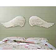 set of 2 ivory angel wings