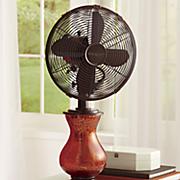 orange crackle fan with lit base