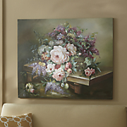 Hand-Painted Spring Floral Canvas