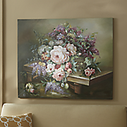 hand painted spring floral canvas