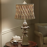 Basket Weave Shade Lamp