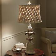 Basket Weave Shade Lamp