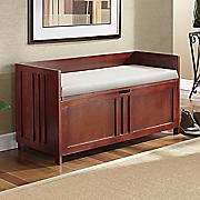 Walnut Bench with Cushion by Montgomery Ward®