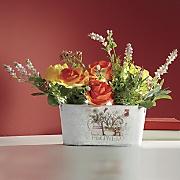 Wild Roses Lit Floral