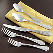 20-Piece Stainless Steel Whimsical Butterfly Flatware Set