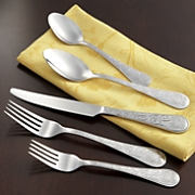 20 pc stainless steel whimsical butterfly flatware set