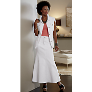maxine denim vest and control maxi skirt
