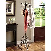 ornate metal coat rack