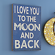 the moon and back wall plaque