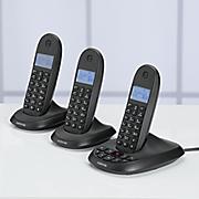 3 handset phone system by motorola