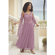Rose Quartz Lace Dress
