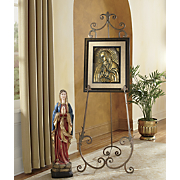 Bronzetone Framed Guadalupe and Easel