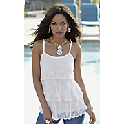 tiered lace cami by midnight velvet style