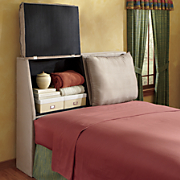 padded storage headboard