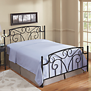 black metal scroll bed