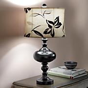 Stacked Ebony Lamp