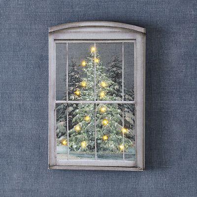 Lit Glistening Pines Art