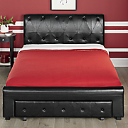 black storage bed