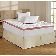 """Sleep Connection ® """"Your Way"""" Mattress Topper and Pillows by Montgomery Ward"""