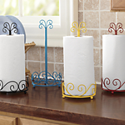 scrolled paper towel holder