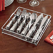 60 pc  flatware set with serving caddy
