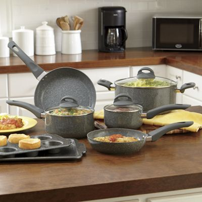 Ginny's Brand 10-Piece Speckle Cookware Set