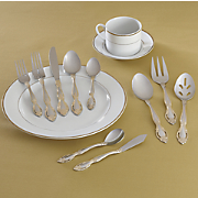 45 pc georgia estate flatware set from occasions by montgomery ward