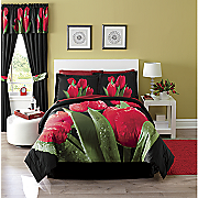 4-Piece Tulip Comforter Set and Window Treatments
