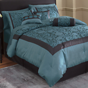 21 pc reggio complete jacquard bed set
