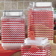 Set of 3 Chevron Canisters