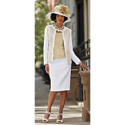 flora hat and jewel jacket dress