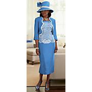 Sky Hat and Blue Sky Jacket Dress