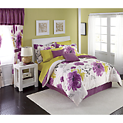 Sublime Complete Bed Set, Decorative Pillow and Window Treatments