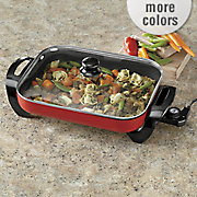 elite 15 inch gourmet electric skillet by maxi matic