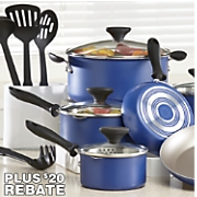 14-Piece Aluminum Farberware Cookware Set