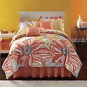 Coral Springs Complete Bed Set, Decorative Pillow and Window Treatments