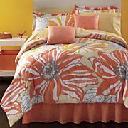 coral springs complete bed set decorative pillow and window treatments