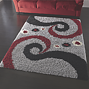 swirls shag rug