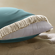16inch sq Decorative Pillow Cover Feather Insert and Polyester Insert