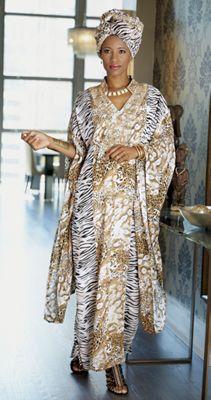 Gaia Headwrap and Caftan Dress