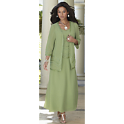 green goddess 2 pc dress