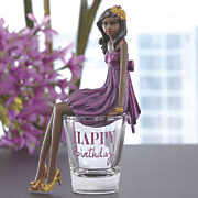 birthday girl shotglass figurine