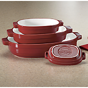nesting ceramic bakeware set by kitchenaid