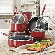 10 pc aluminum nonstick cookware set by kitchenaid