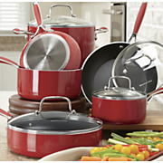 10 pc aluminum nonstick cookware set by kitchenaid