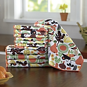 12pc harvest veggie towel set