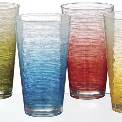 Set of 4 Assorted Acrylic Tumblers