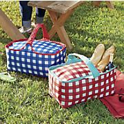 gingham picnic tote