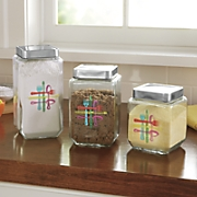 S/3 Utensil Glass Canisters