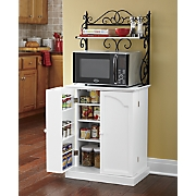 scroll microwave pantry stand